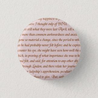 Badge Rond 2,50 Cm Citation de fierté et de préjudice