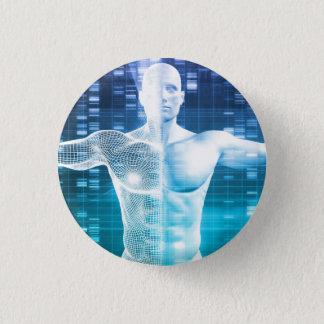 Badge Rond 2,50 Cm Codage et code génétique d'ADN comme Science