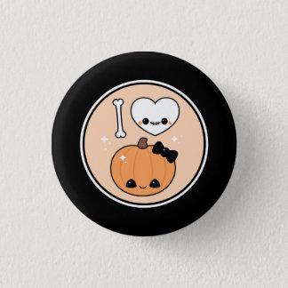 Badge Rond 2,50 Cm Coeur mignon Halloween d'I