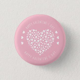 Badge Rond 2,50 Cm Coeurs complètement de Saint-Valentin de coeurs