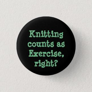 Badge Rond 2,50 Cm Comptes de tricotage comme exercice, droite ?