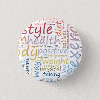 Badge Rond 2,50 Cm Concept de forme physique pour la perte de poids