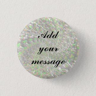 Badge Rond 2,50 Cm Conception en verre crépitée de remous - opale