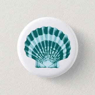 Badge Rond 2,50 Cm Coquillage - nuances de bleu turquoise