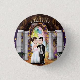 Badge Rond 2,50 Cm Couples de mariage dans l'église