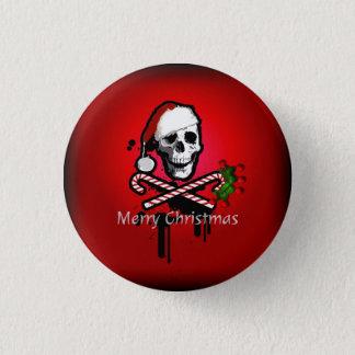 Badge Rond 2,50 Cm Crâne de Noël