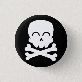 Badge Rond 2,50 Cm Crâne heureux