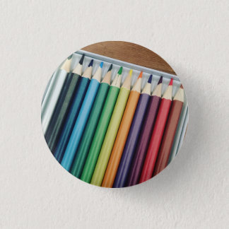 Badge Rond 2,50 Cm Crayons de coloration - insigne