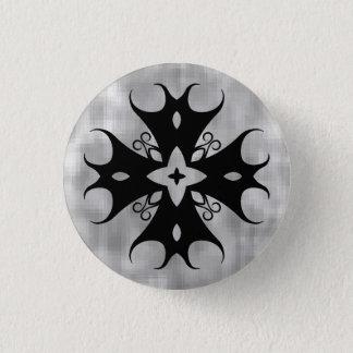 Badge Rond 2,50 Cm Croix médiévale gothique