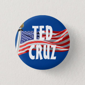 Badge Rond 2,50 Cm Cruz courant pour le bouton du Président drapeau