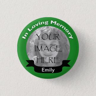 Badge Rond 2,50 Cm Dans le bouton affectueux de vert de photo de