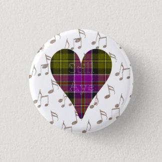 Badge Rond 2,50 Cm De tartan de coeur toujours insigne d'Indy oui