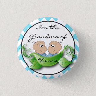 Badge Rond 2,50 Cm Deux pois dans un thème de douche de bébé de