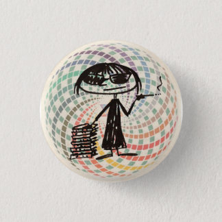 Badge Rond 2,50 Cm didion de Joan avec la géométrie sacrée