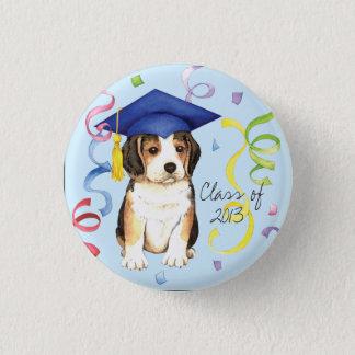 Badge Rond 2,50 Cm Diplômé de beagle