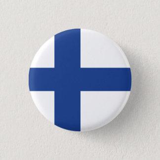 Badge Rond 2,50 Cm Drapeau abstrait de la Finlande, bouton finlandais