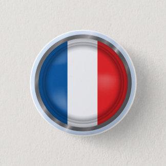Badge Rond 2,50 Cm Drapeau abstrait de la France, bouton français de