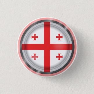 Badge Rond 2,50 Cm Drapeau abstrait de la Géorgie, bouton géorgien de