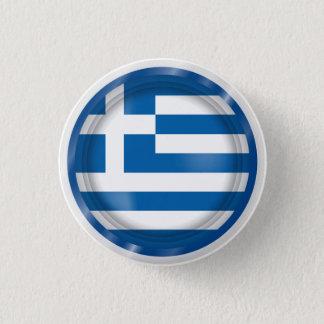 Badge Rond 2,50 Cm Drapeau abstrait de la Grèce, bouton grec