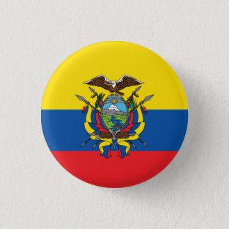 Badge Rond 2,50 Cm Drapeau abstrait de l'Equateur, République de