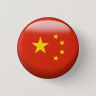 Badge Rond 2,50 Cm Drapeau de la Chine