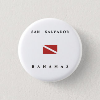 Badge Rond 2,50 Cm Drapeau de piqué de scaphandre de San Salvador