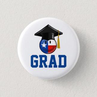 Badge Rond 2,50 Cm Drapeau de sourire de diplômé fier du Texas