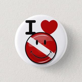 Badge Rond 2,50 Cm Drapeau de sourire rond brillant de plongeur