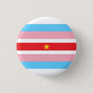 Badge Rond 2,50 Cm Drapeau de transport avec le drapeau rouge, étoile