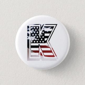 Badge Rond 2,50 Cm Drapeau patriotique des Etats-Unis d'initiale de