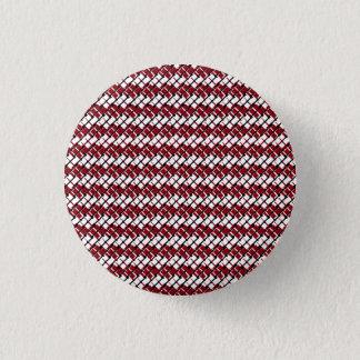 Badge Rond 2,50 Cm Et frais motif dénommé par Jacquard rouge et blanc