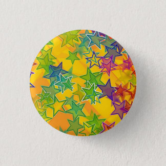 Badge Rond 2,50 Cm Étoiles petites, 1 bouton rond de pouce de ¼