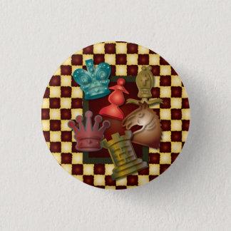 Badge Rond 2,50 Cm Évêque Pawn de chevalier du Roi la Reine de