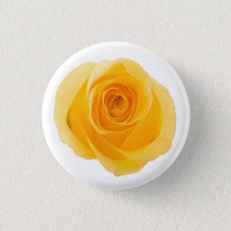 Badge Rond 2,50 Cm Fleur rose photographique d'amitié jaune