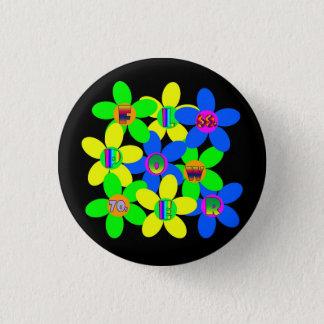Badge Rond 2,50 Cm Flower power 60s-70s