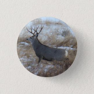 Badge Rond 2,50 Cm Fonctionnement de mâle de cerfs communs de mule