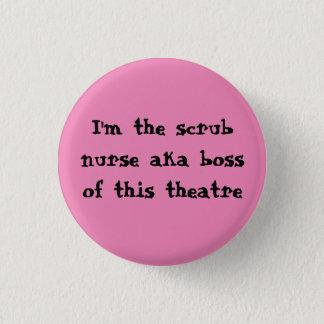 Badge Rond 2,50 Cm Frottez l'insigne d'infirmière
