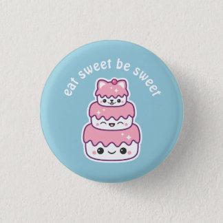 Badge Rond 2,50 Cm Gâteau de chat de Kawaii Kitty