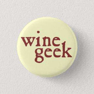 Badge Rond 2,50 Cm Geek de vin