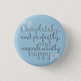 Badge Rond 2,50 Cm Goupille heureuse pour des fans de Jane Austen