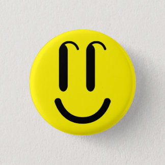 Badge Rond 2,50 Cm Goupille «SMILE», Bouton rond