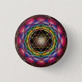 Badge Rond 2,50 Cm Graine de bouton de mandala de la vie par Rachel