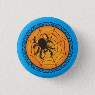 Badge Rond 2,50 Cm Halloween silhouette l'insigne d'araignée et de