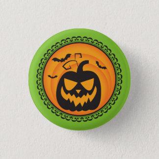 Badge Rond 2,50 Cm Halloween silhouette l'insigne de citrouille