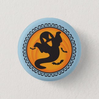 Badge Rond 2,50 Cm Halloween silhouette l'insigne de fantôme