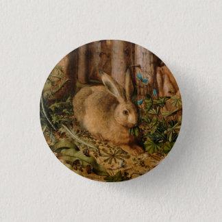 Badge Rond 2,50 Cm Hans Hoffmann un lièvre dans la forêt