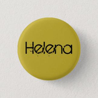 Badge Rond 2,50 Cm Helena du nom noir orphelin en caractères gras