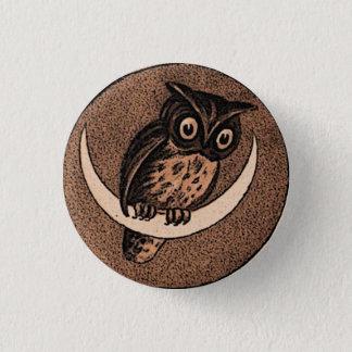 Badge Rond 2,50 Cm Hibou