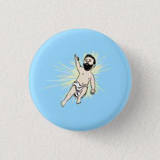 Badge Rond 2,50 Cm Homme de bébé Bouton-Bleu