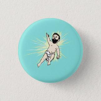Badge Rond 2,50 Cm Homme de bébé Bouton-Vert